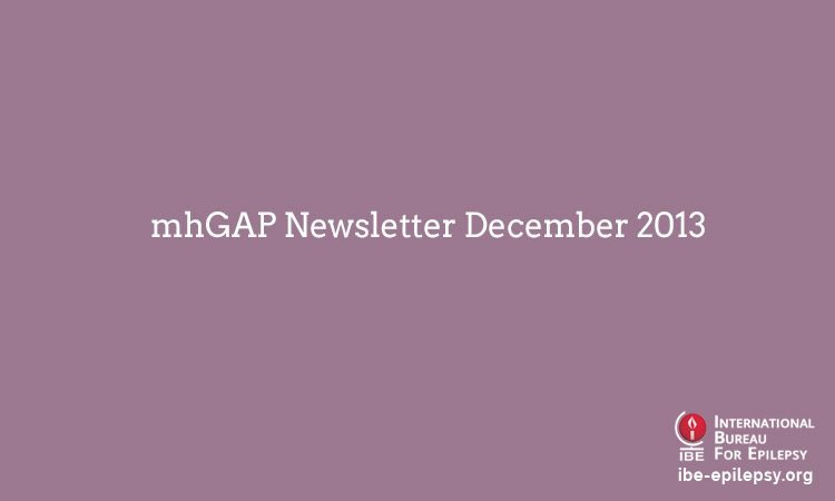 mhGAP Newsletter December 2013