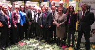 Commissioner Borg, pictured with some of the more than 40 MEPs who attended the reception to launch European Epilepsy Day 2014 in the European Parliament