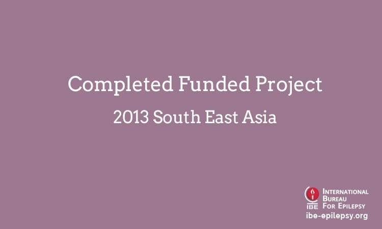 Completed Funded Project - 2013 South East Asia