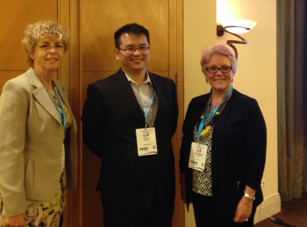 Pictured from left: Ann Little, IBE Executive Director, Derrick Chan, Singapore Epilepsy Foundation and Denise Chapman, Epilepsy Australia - organisers of the symposium programme.