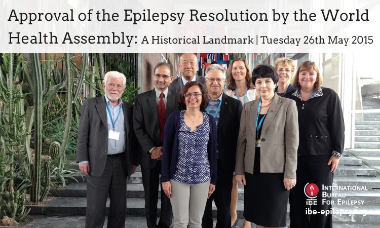 Approval of the Epilepsy Resolution by the World Health Assembly