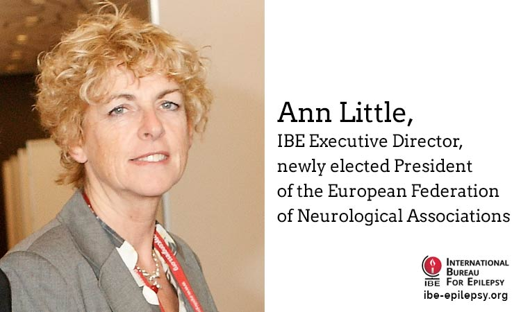 Ann Little, IBE Executive Director, newly elected President of the European Federation of Neurological Associations