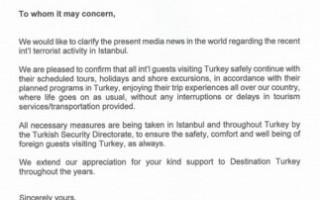 turkey letter