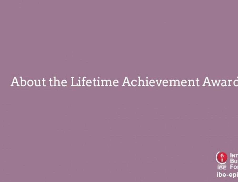 About the Lifetime Achievement Award