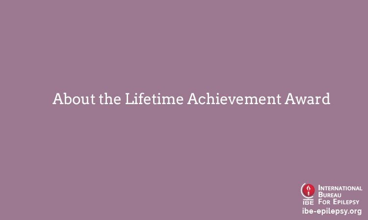 About the Lifetime Achievement Award