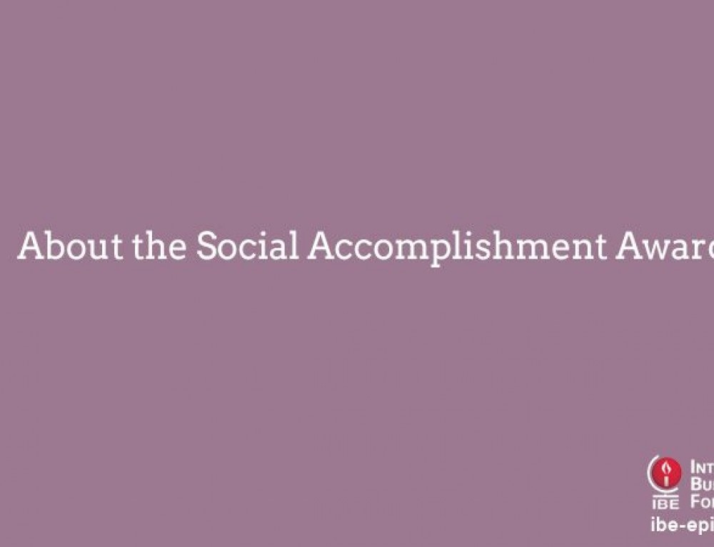About the Social Accomplishment Award