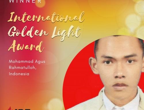 Mohammad Agus Rahmatulloh,  Indonesia – IBE Golden Light Award Winner 2019