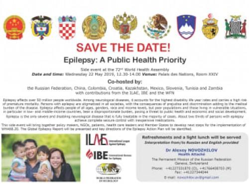 Epilepsy: A Public Health Priority
